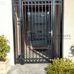 SS74 - Black Double Oxley Ring Security Gate
