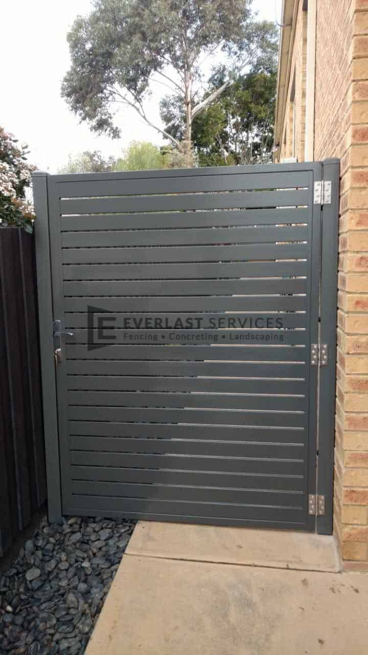 SS77 - Shale Grey Slats Single Gate