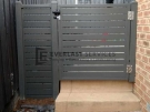 SS78 – Shale Grey Slats Single Gate with Mag Latch