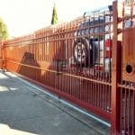 SG31 - Manor Red Double Spear Sliding Gate