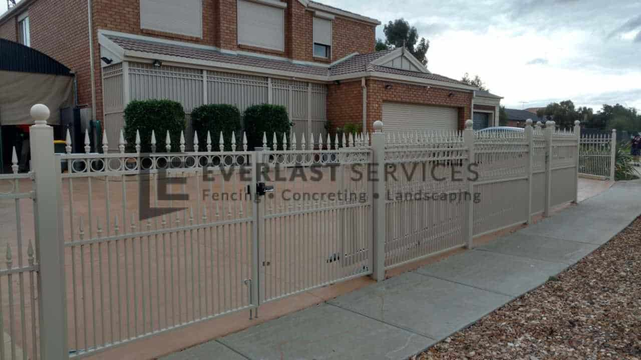 SF114 - Steel Fencing + Perforated Sheeting 3 (Heritage Design)