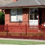SF125 - Manor Red Steel Picket Fencing