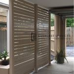 A59 - Surfmist Horizontal Privacy Slats Screening Back View