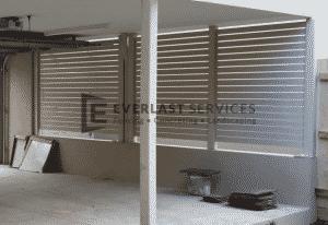 A57 - Surfmist Horizontal Privacy Slats Screening