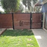 A119 - WRC Slats Single Gate + Fencing