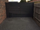 DG19 – Charcoal Slats Double Gate