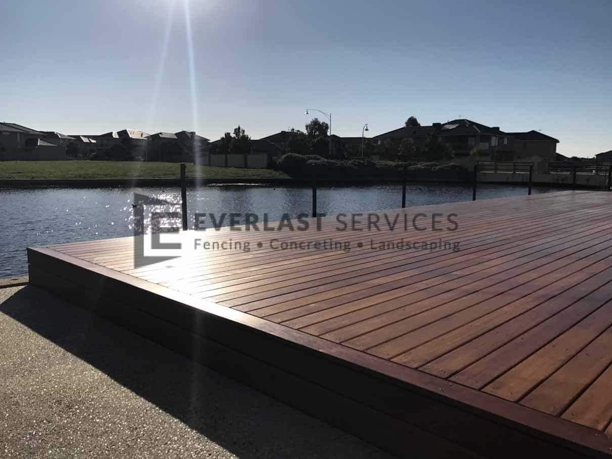 T82 - Decking with Lake Back Drop