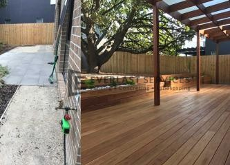 T68 - Decking and Pergola Before and After