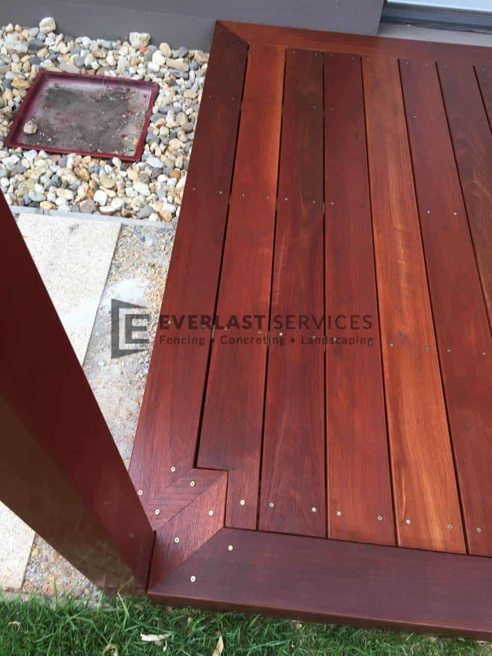 T44 - Close Up Jarrah Decking Corner