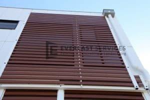 CF8 - Commercial Woodlook Slats Screening View 2