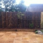 L13 - Bamboo Fence Screening with Sandstone Paving