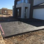 CC2 - Charcoal Coloured Concrete Driveway