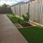 L20 - Exposed Aggregate Foot Path with Synthetic Grass