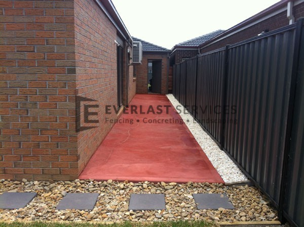 PC58 - Red Painted Concrete with paving
