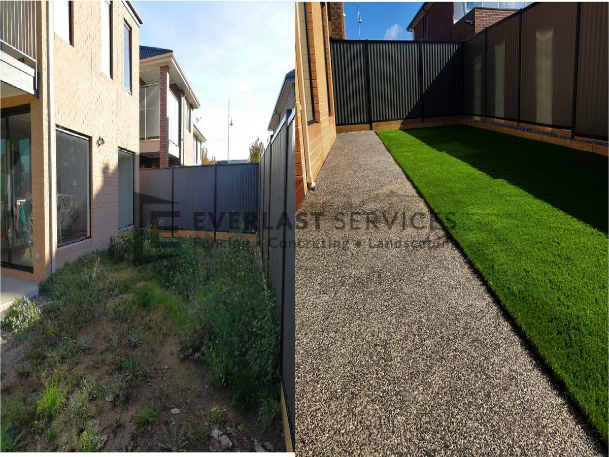 L97 - Backyard Landscaping before and after