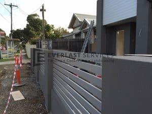 A55 - Concrete Block with Aluminium Slats Infill