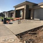 L63 - Merbau Decking Stairs + Exposed Aggregate + Synthetic Grass