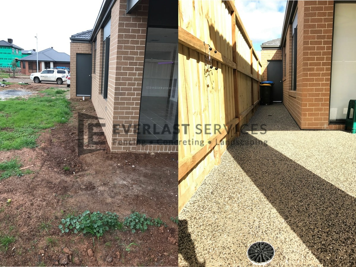 EA34 - Exposed Aggregate Before and After