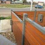 A50 - Woodland Grey Bar with WRC Slats Fencing Close Up