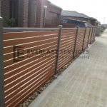 A51 - Woodland Grey Bar with WRC Slats Fencing