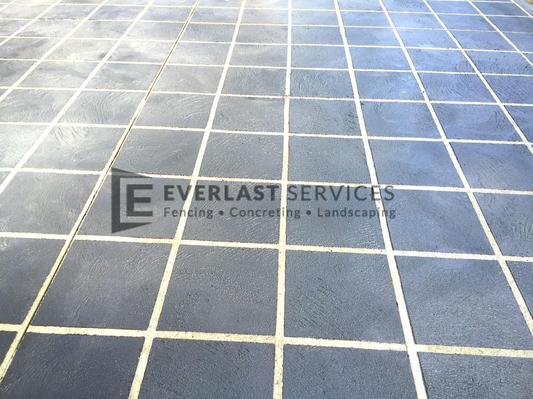 STE1 - Tile Stencil Concrete Driveway