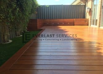 wooden deck full view