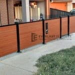 DG33 - Slats Fence with Double Gate