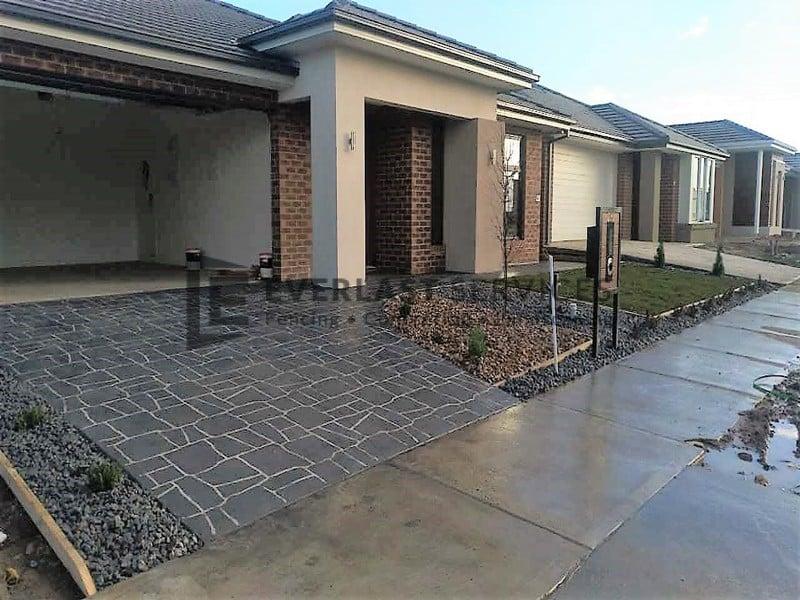 Stencil Concrete Melbourne Brick Stenciled Pattern Cost
