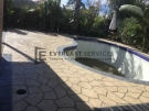 STE8 – Bush Rock Stencil Concrete around Pool