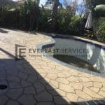 STE8 - Bush Rock Stencil Concrete around Pool