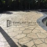 STE5 - Bushrock Stencil Concrete around Pool