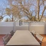 MW 40 - Decking Modular Fence with White Slats