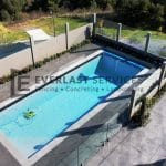 MW 72 - Swimming Pool Birds Eye View + Glass Fence