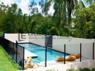 Swimming Pool-Glass-And-Black-Fence