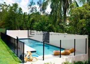 MW 37 - Swimming Pool Glass And Black Fence