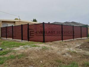 A156 - Jarrah Slats Front Fencing