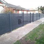 A171 - Wide Aluminium Slat Fencing