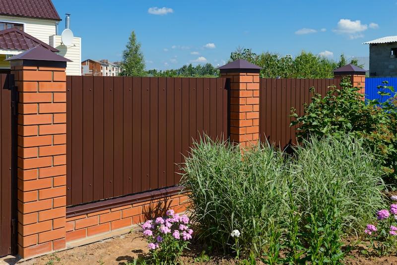 brick infill fencing