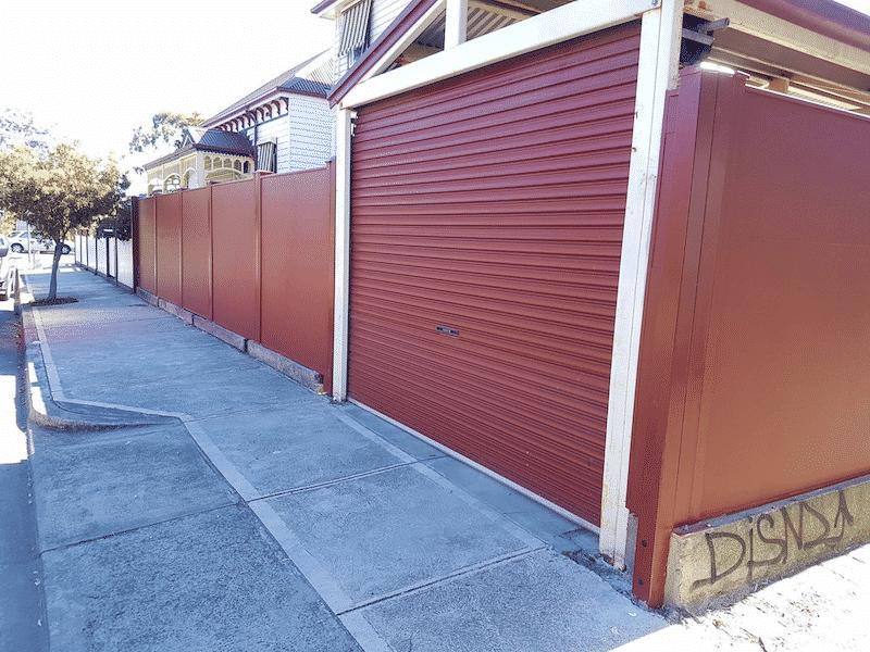 galvanised fence panels