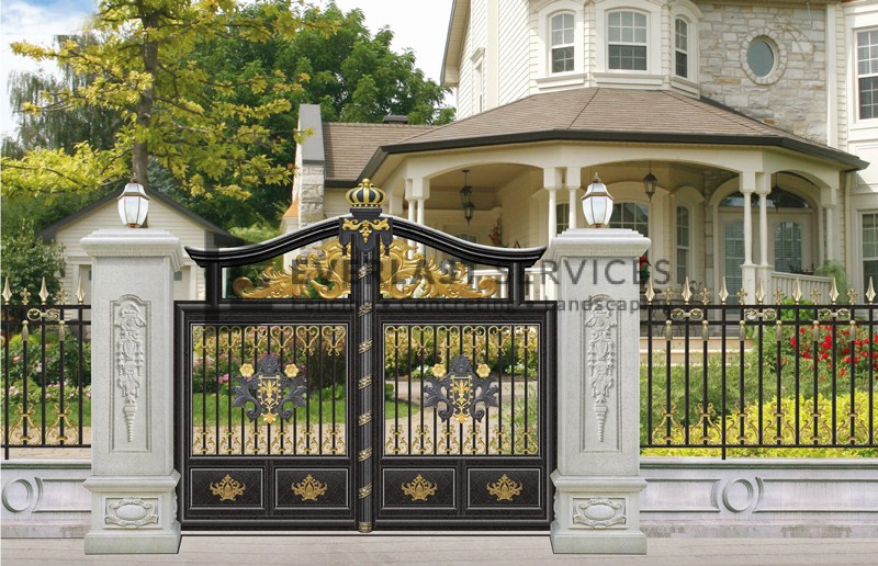 AD1 - Aluminium Art Decor Black Fence