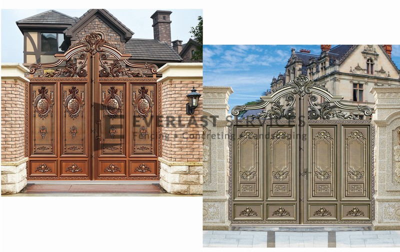AD12 - Front Gates Aluminium Art Decor