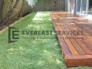 Merbau Decking with Turf