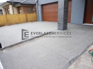 Exposed Aggregate Front Driveway and Path View 2