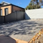 EA65 - Exposed Aggregate + Motorised Double Gate