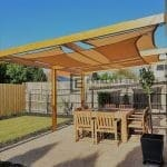Closed Shot of Tarp Pergola