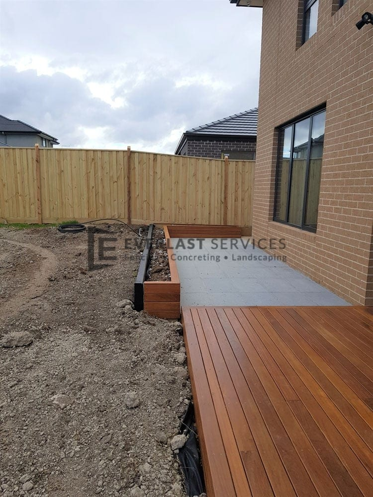 Decking + Garden Box + Paving