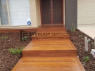 Front View Cumaru Decking Steps