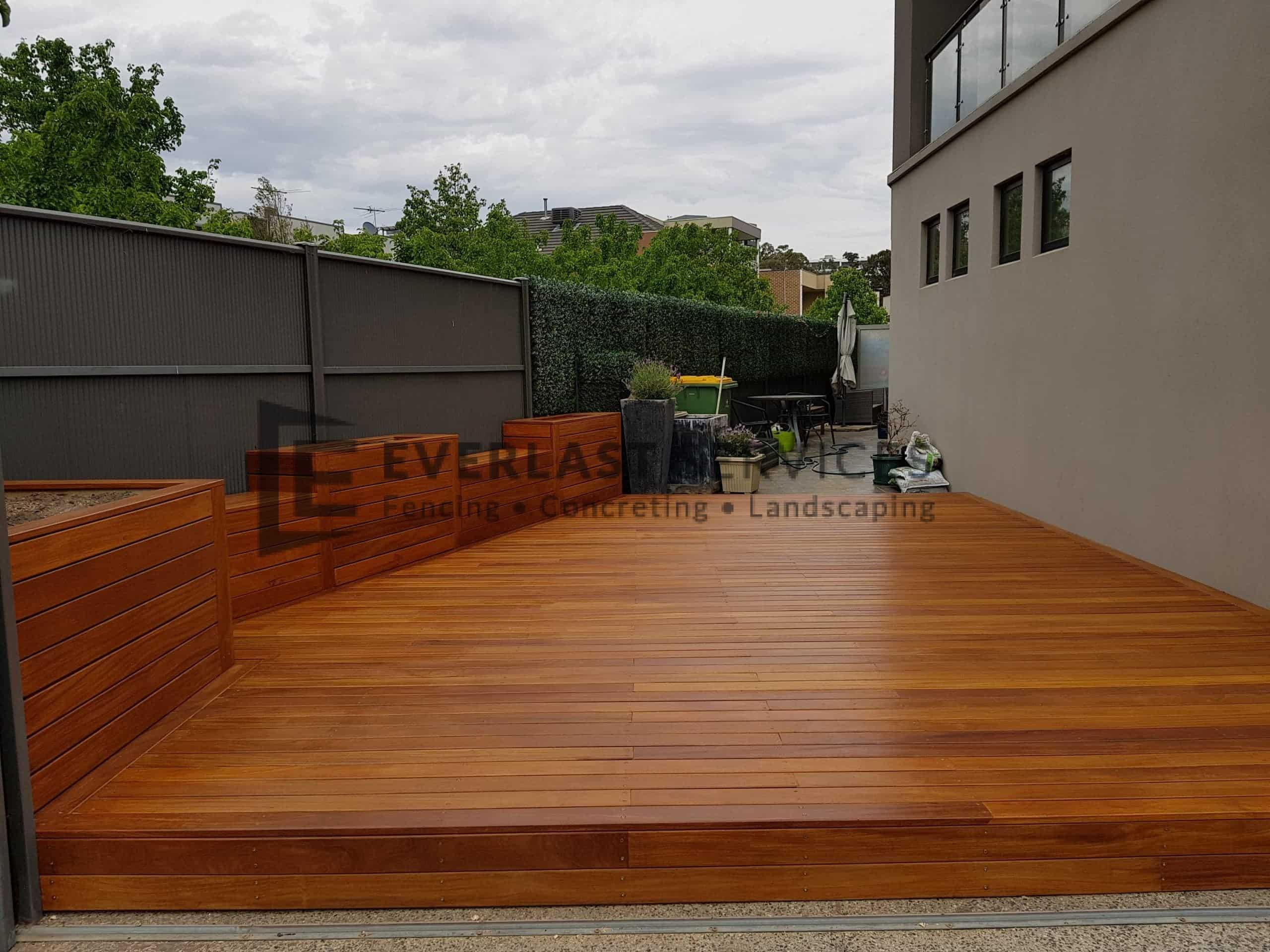 Garden Box + Bench + Decking View 1