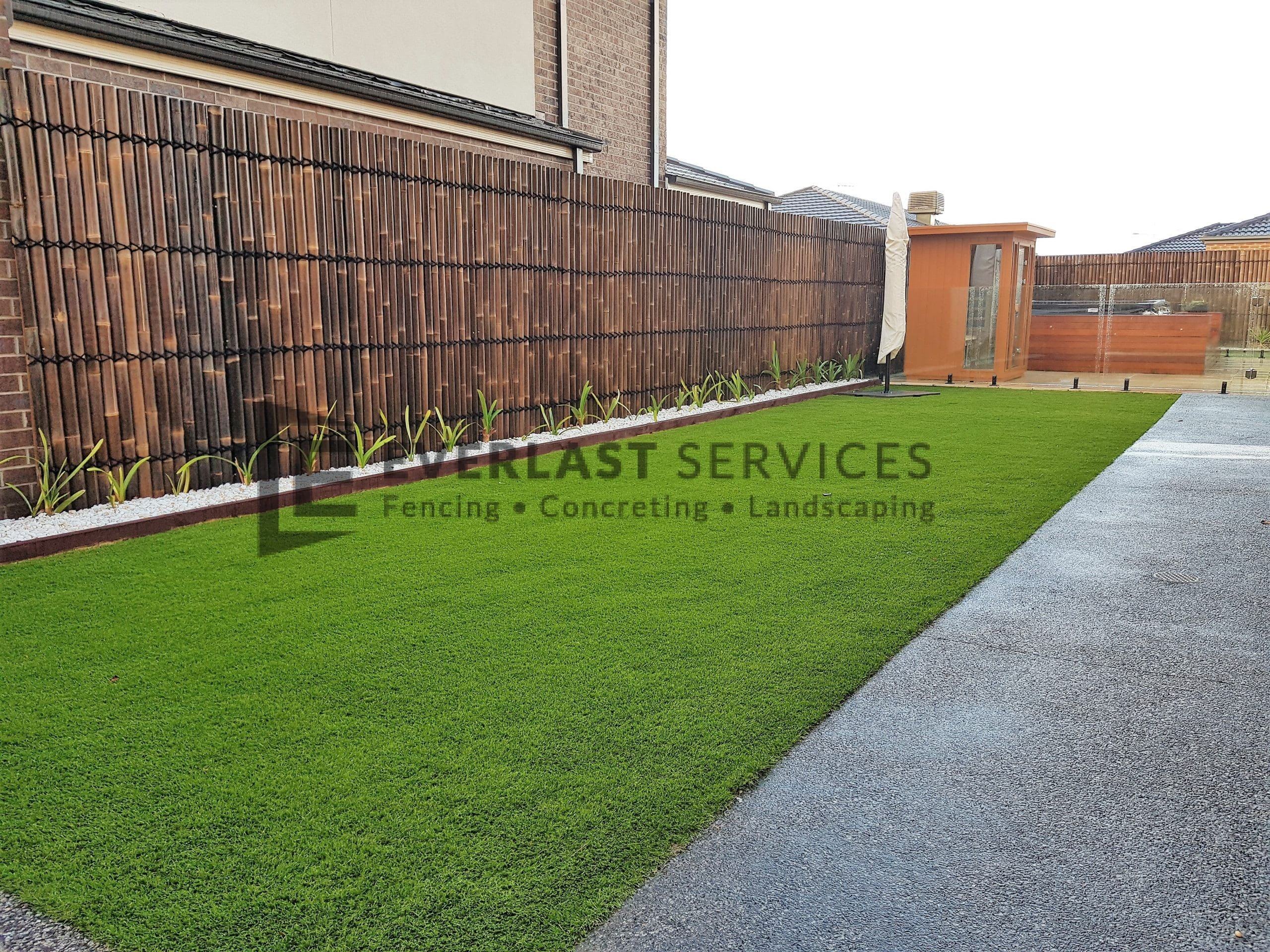 Bamboo Screening and Synthetic Grass