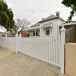SF182 - Ascot Vale - Picket fence and footpath